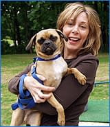 Sue and her Pug