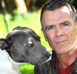 Dan Scott with his dog Rocco